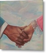 Hand In Hand Forever Metal Print
