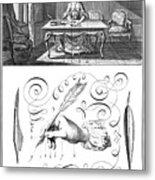 Handwriting, 18th Century Metal Print