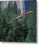 Hang Glider In Yosemite Metal Print