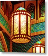 Hanging Lanterns Metal Print