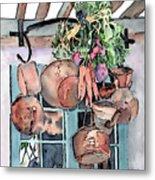 Hanging Pots And Pans Metal Print