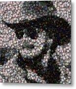 Hank Williams Jr. Bottle Cap Mosaic Metal Print by Paul Van Scott