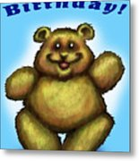 Happy Birthday Bear Metal Print