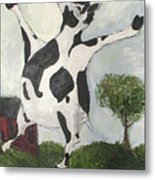 Happy Cow Metal Print