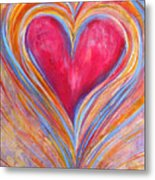 Happy Dancing Heart Metal Print