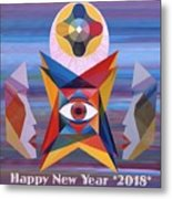 Happy New Year 2018 Metal Print
