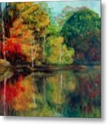 Happy Valley Pond Metal Print