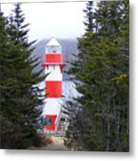 Harbor Breton Lighthouse Metal Print
