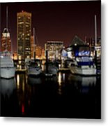 Harbor Nights - Trade Center In Focus Metal Print