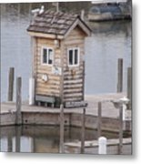 Harbor Shack Metal Print