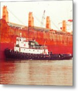 Harbor Tugboat Metal Print by Fred Jinkins