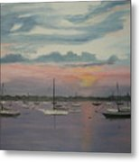 Harbor Twilight Metal Print