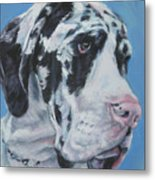 harlequin Great Dane Metal Print