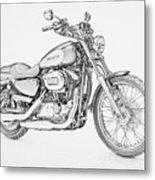 Harley Davidson 1200 Custom Metal Print