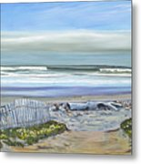 Haskells Beach Morning Metal Print