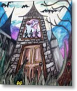 Haunted House Metal Print by Jenni Walford