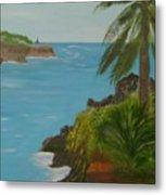 Hawaii Cliffs Metal Print