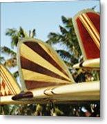 Hawaiian Design Surfboards Metal Print
