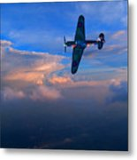 Hawker Hurricane On Dawn Patrol Metal Print