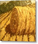 Haybale Hill Metal Print by Jaylynn Johnson