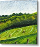 Hayfield Metal Print
