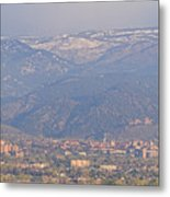 Hazy Low Cloud Morning Boulder Colorado University Scenic View  Metal Print by James BO  Insogna