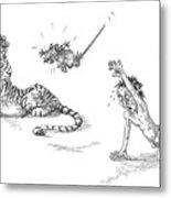 He Tossed The Poor Rat To It Metal Print