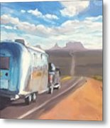 Heading South Towards Monument Valley Metal Print