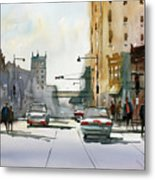 Heading West On College Avenue - Appleton Metal Print by Ryan Radke