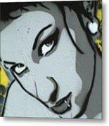 Headshot Of A Young Woman Metal Print