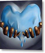 Heart Of Water Metal Print by Kenal Louis