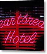Heartbreak Hotel Neon Metal Print by Garry Gay