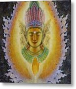 Heart's Fire Buddha Metal Print