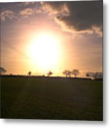 Heavenly Sunset Over Suffolk Metal Print