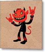 Heavy Metal Devil Metal Print by John Schwegel