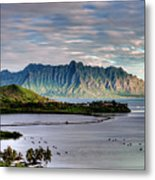 He'eia Fish Pond And Kualoa Metal Print