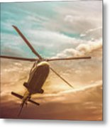 Helicopter Metal Print by Bob Orsillo