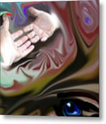 Helping Hands Abstract Metal Print