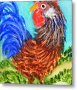 Hen With Egg Metal Print