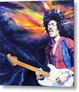 Hendrix Metal Print by Ken Meyer jr