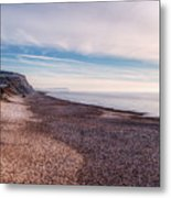 Hengistbury Head And Beach Metal Print