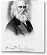 Henry Wadsworth Longfellow Metal Print by Granger