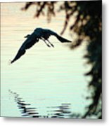 Heron At Dusk Metal Print