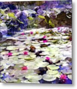 Hidden Pond Lotusland Metal Print