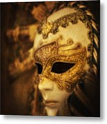 Hiding Behind The Mask Metal Print
