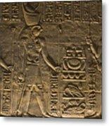 Hieroglyph At Edfu Metal Print by Darcy Michaelchuk