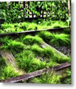 High Line Nyc Railroad Tracks Metal Print
