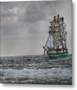 High Seas Sailing Ship Metal Print by Randy Steele