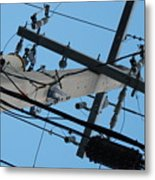 High Wire Metal Print