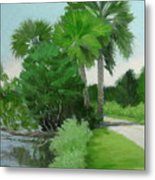 Highbridge Road Trees Metal Print
